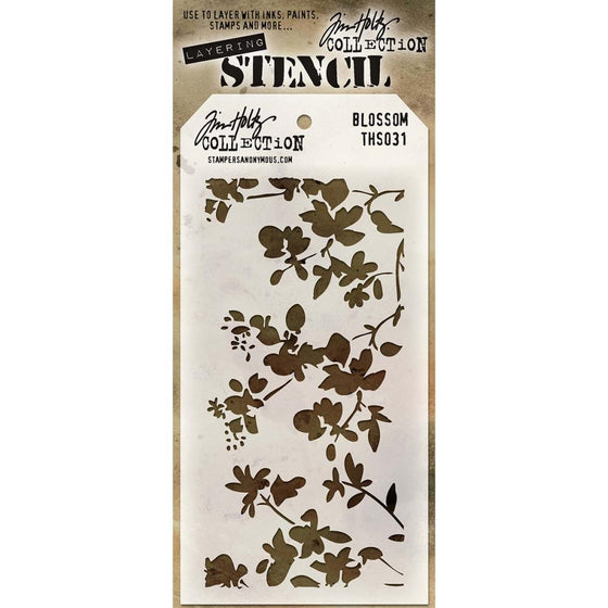 "Tim Holtz Collection Layered Stencil 4.125""X8.5"" - Blossom"