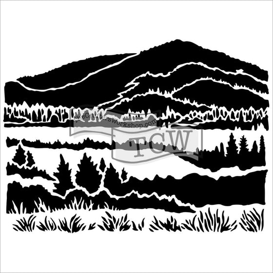 "Crafter's Workshop Template 6""X6"" Mountain View"