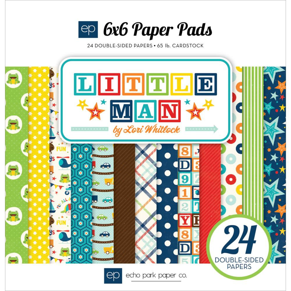 "Echo Park Double-Sided Paper Pad 6""X6"" 24/Pkg Little Man"
