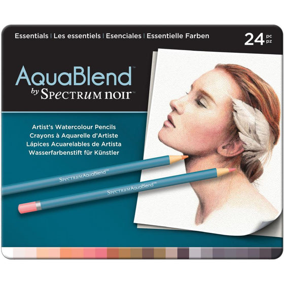 Spectrum Noir Aqua Blend Pencils 24/Pk - Essentials