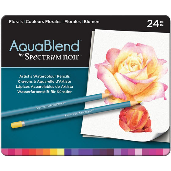 Spectrum Noir AquaBlend Pencils 24/Pk - Florals