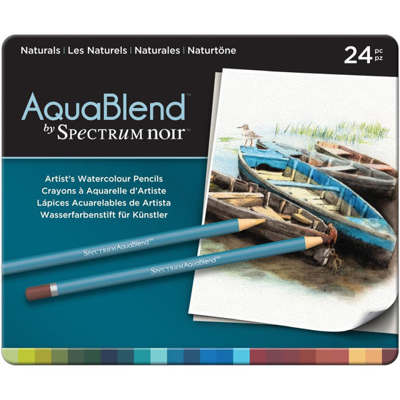 Spectrum Noir AquaBlend Pencils 24/Pk -Naturals