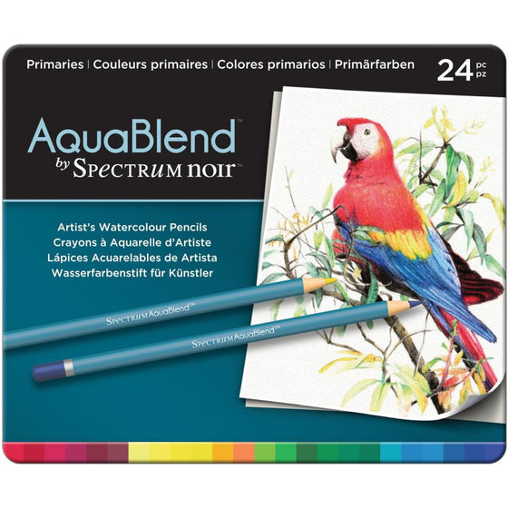 Spectrum Noir AquaBlend Pencils 24/Pk - Primaries