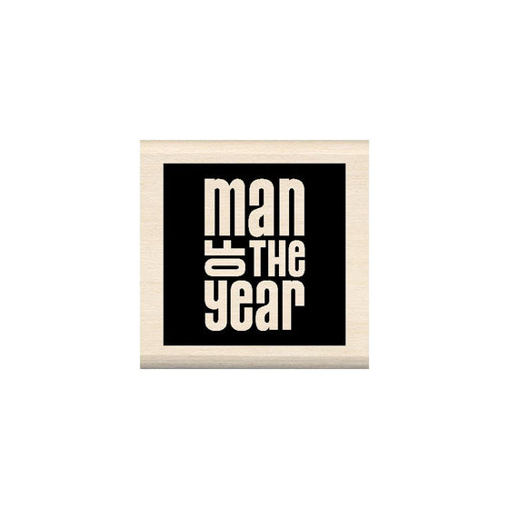 Inkadinkado Mounted Rubber Stamp - Man Of The Year