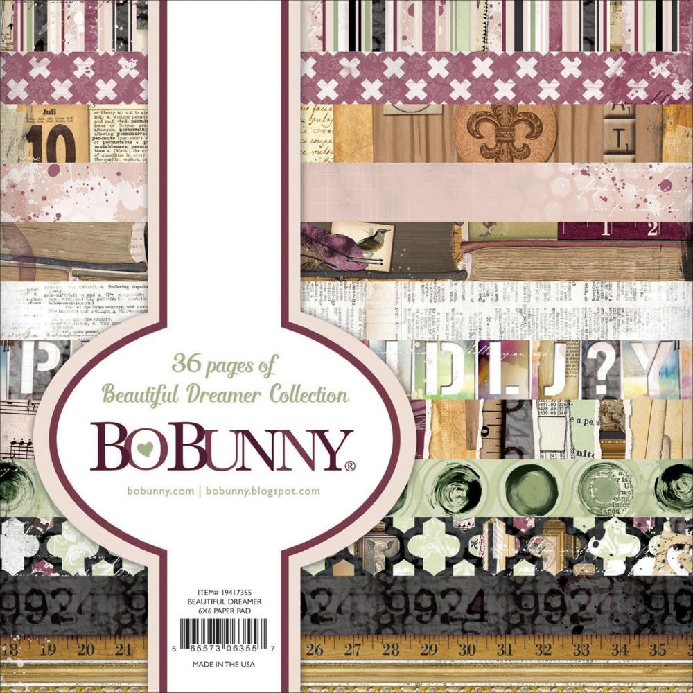 "BoBunny Single-Sided Paper Pad 6""X6"" 36/Pkg Beautiful Dreamer"
