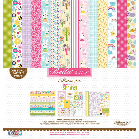 "Bella Blvd Collection Kit 12""X12"" Sweet Sweet Spring"