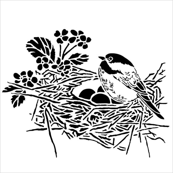 "Crafter's Workshop Template 6""X6"" Bird Nest"