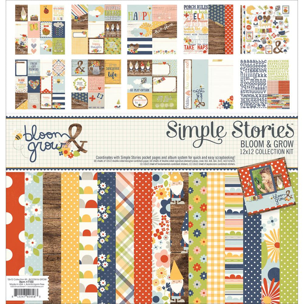 "Simple Stories Collection Kit 12""X12"" Bloom & Grow"