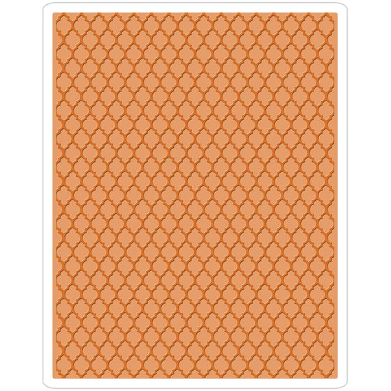 Sizzix Texture Fades A2 Embossing Folder Trellis By Tim Holtz