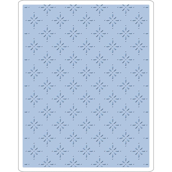 Sizzix Texture Fades A2 Embossing Folder Star Bright