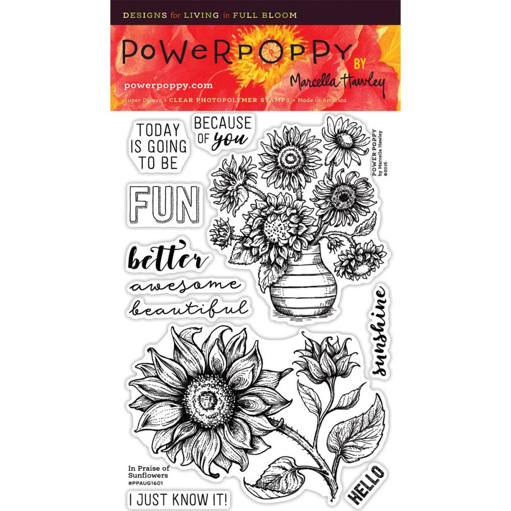 Power Poppy Clear Stamps - In Place of Sunflowers
