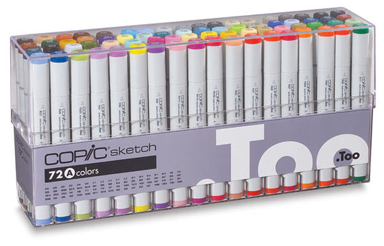 Copic Sketch Markers Set A 72 pc Set