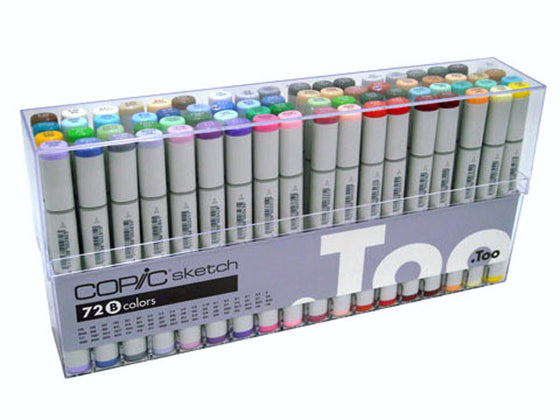 Copic Sketch Markers Set B 72 pc Set