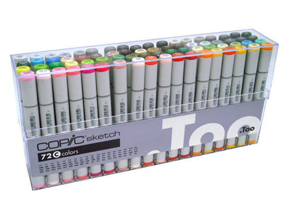 Copic Sketch Markers Set C 72 pc Set