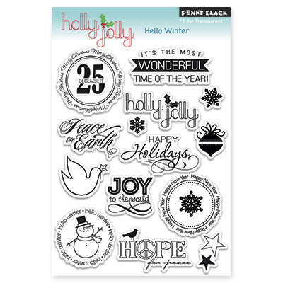 Penny Black Clear Stamps - Hello Winter