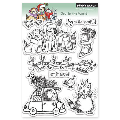 Penny Black Clear Stamps - Joy To The World