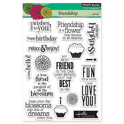 Penny Black Clear Stamps - Friendship