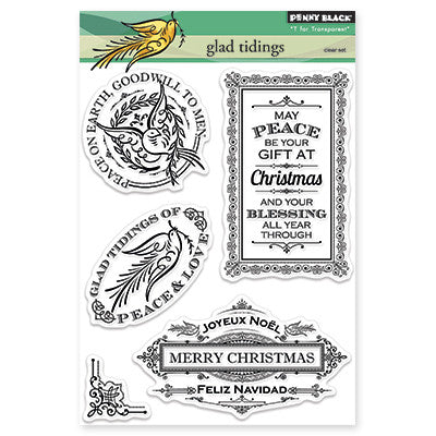 Penny Black Clear Stamps - Glad Tidings