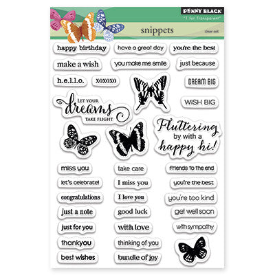Penny Black Clear Stamps - Snippets
