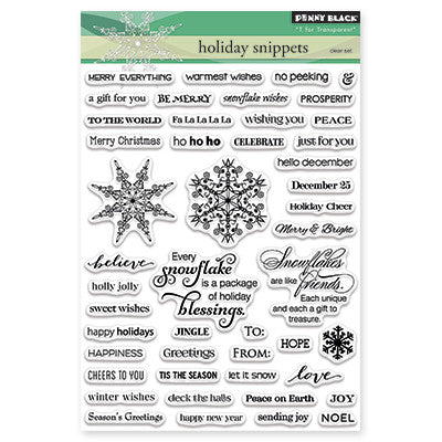 Penny Black Clear Stamps - Holiday Snippets