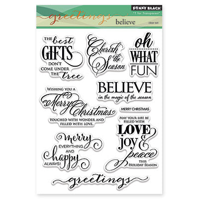 Penny Black Clear Stamps - Believe