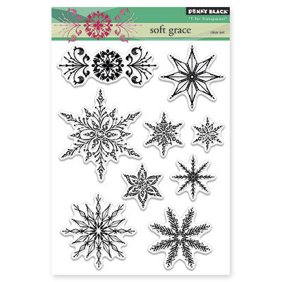 Penny Black Clear Stamps - Soft Grace