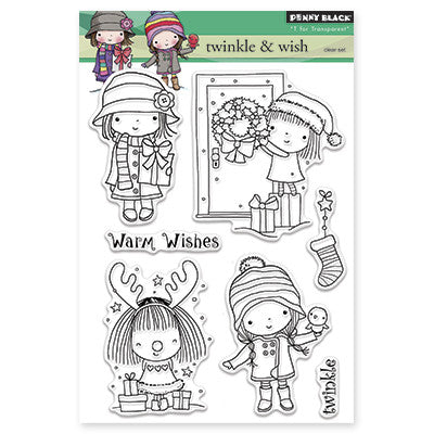 Penny Black Clear Stamps - Twinkle & Wish