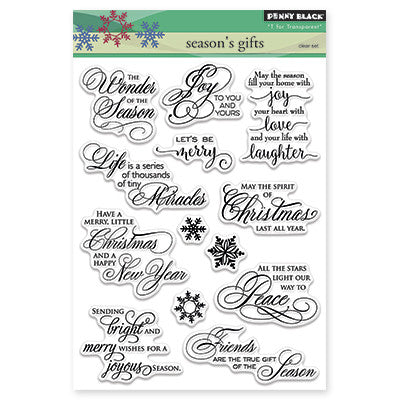 Penny Black Clear Stamps - Season's Gift