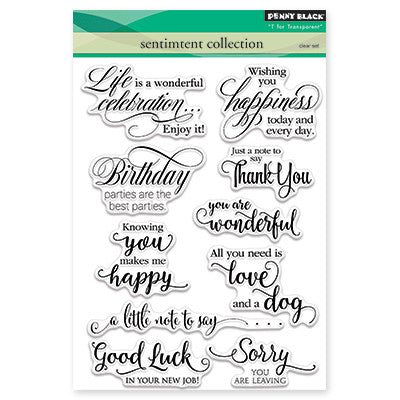 Penny Black Clear Stamps - Sentiment Collection