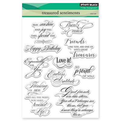 Penny Black Clear Stamps - Treasured Sentiments