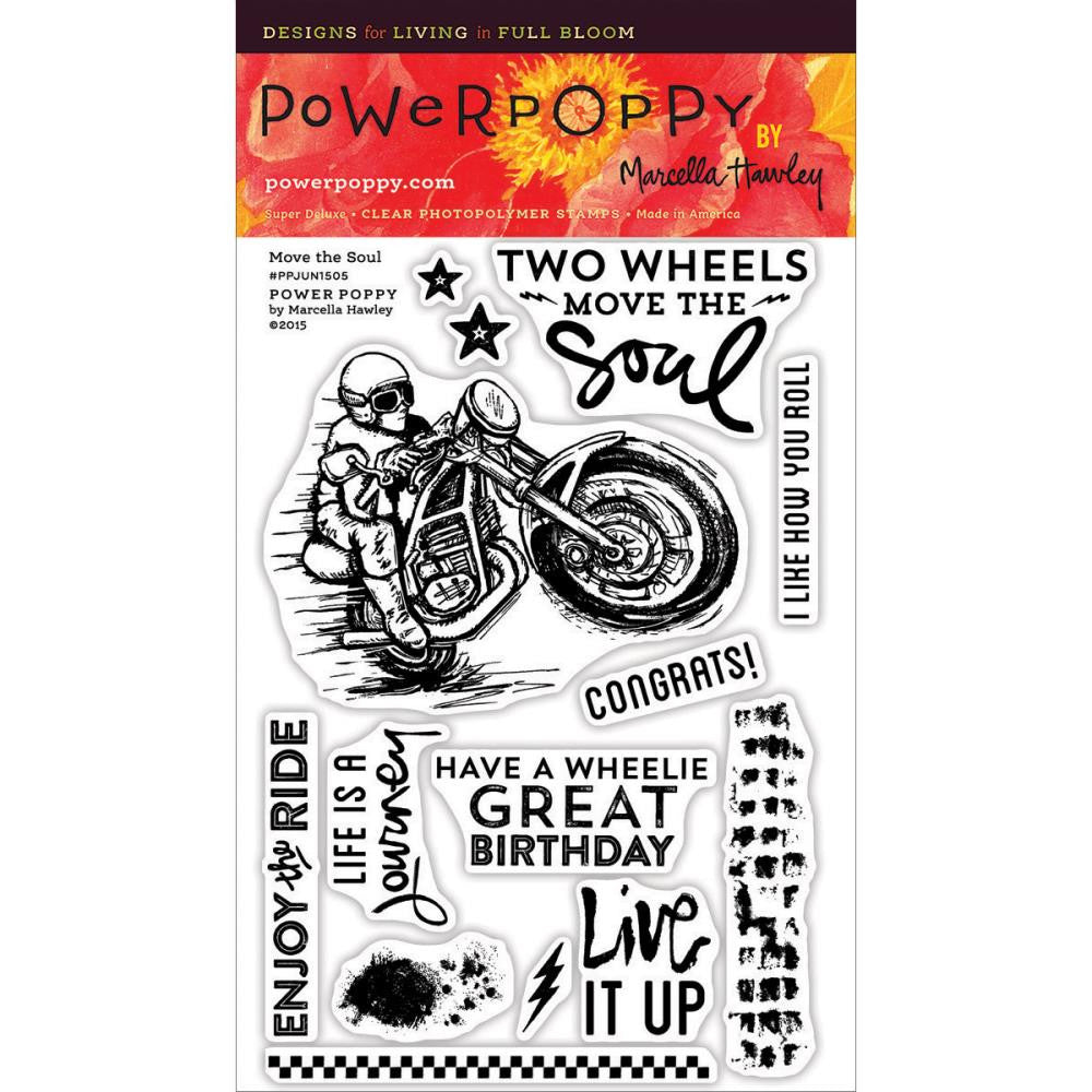 Power Poppy Clear Stamps - Move the Soul