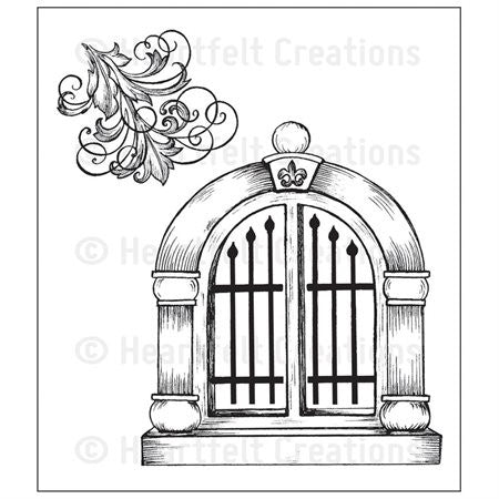 Heartfelt Creations Cling Rubber Stamps - Palace Entry