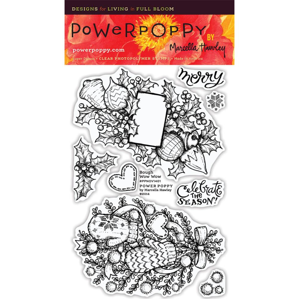 Power Poppy Clear Stamps - Bough Wow Wow