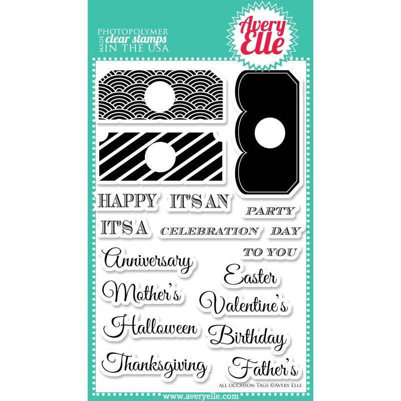 Avery Elle Clear Stamps - All Occasion Tags