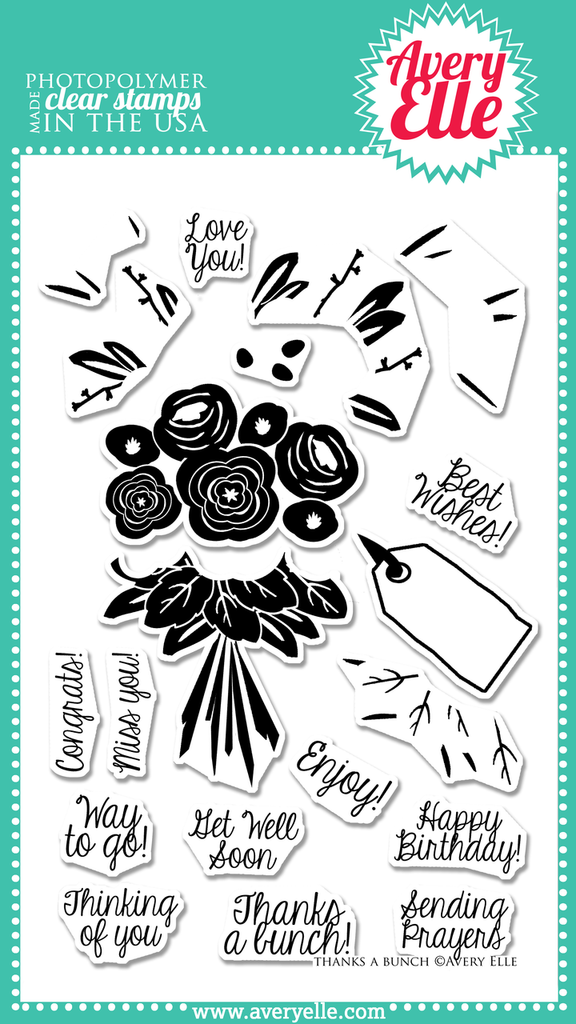 Avery Elle Clear Stamps - Thanks A Bunch
