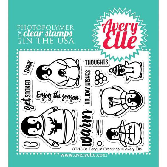 Avery Elle Clear Stamps - Penguin Greetings