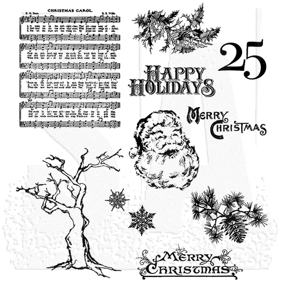 Stampers Anonymous - Tim Holtz Cling Rubber Stamps: Mini Holidays 3