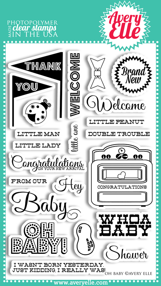 Avery Elle Clear Stamps - Oh Baby