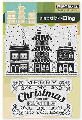 Penny Black Cling Stamps - Winter Village
