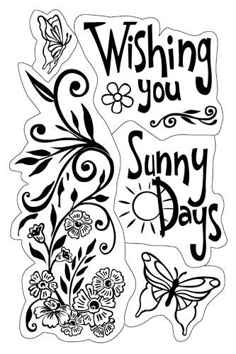 Inkadinkado Cling Stamps - Wishing You Sunny Days