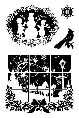 Inkadinkado Cling Stamps - Winter Wonderland