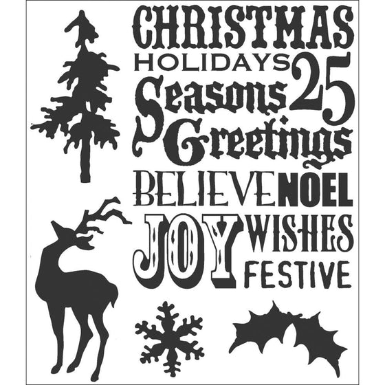 Stampers Anonymous - Tim Holtz Cling Rubber Stamps: Seasons Silhouettes