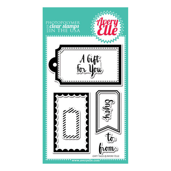 Avery Elle Clear Stamps - Gift Tags