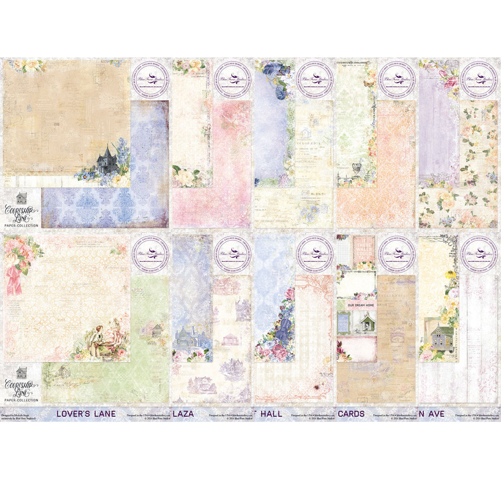 Blue Fern Studios Courtship Lane Paper Collection Kit