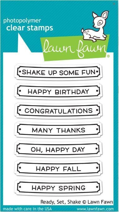 Lawn Fawn Clear Stamps - Ready Set Shake
