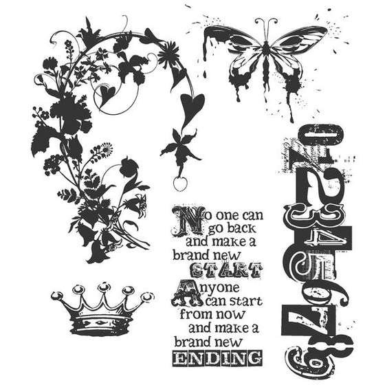 Stampers Anonymous - Tim Holtz Cling Rubber Stamps: Fairytale Frenzy