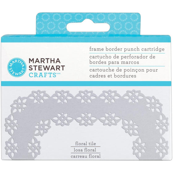 Martha Stewart Frame Border Punch Cartridge - Floral Tile