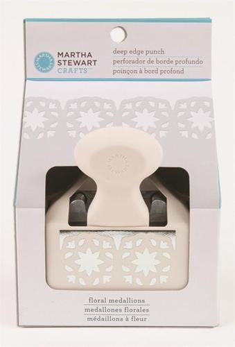 Martha Stewart Deep Edge Punch Floral Medallion