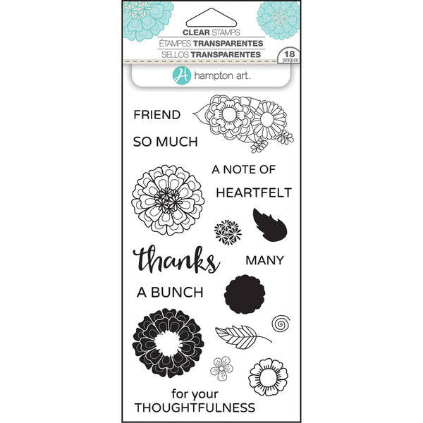 Hampton Art Layering Clear Stamps - Thanks