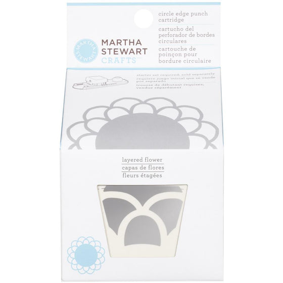 Martha Stewart Circle Border Cartridge - Layered Flower